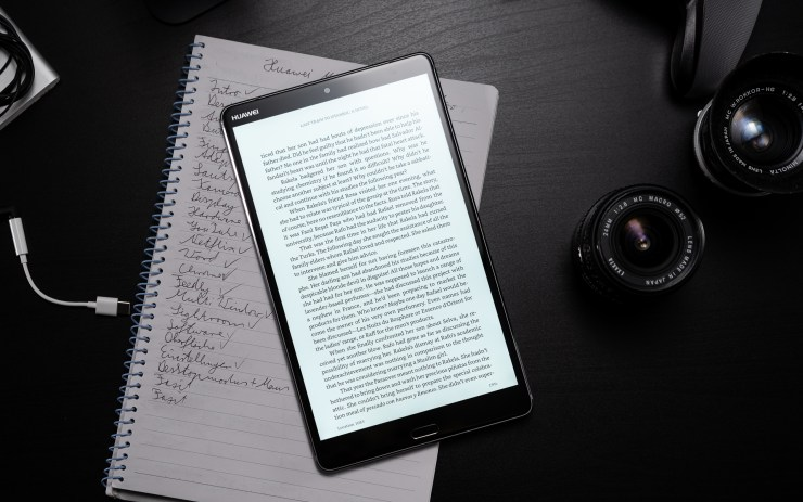 Huawei MediaPad M5 8 with Kindle App