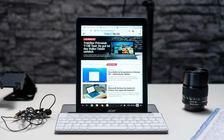 Acer Chromebook Tab 10 keyboard