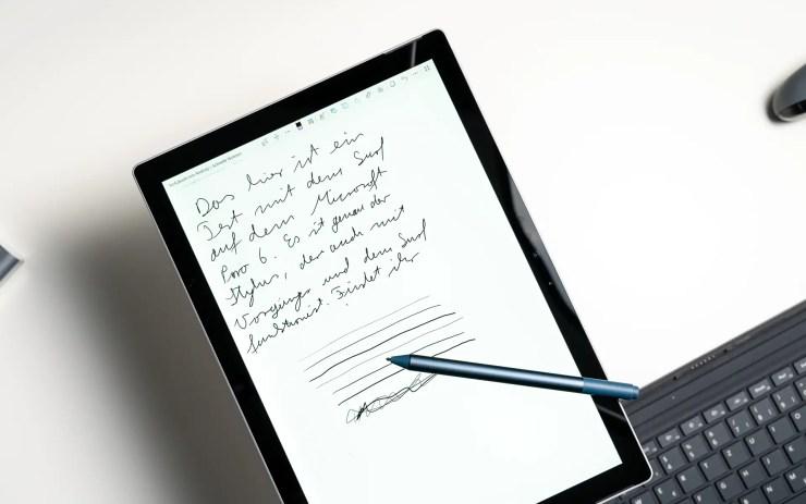 Microsoft Surface Pro 6 with stylus