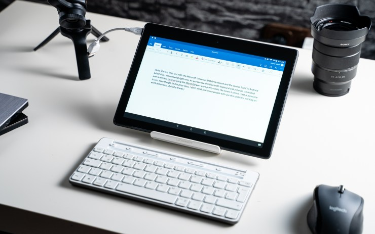 Lenovo Tab E10 with keyboard