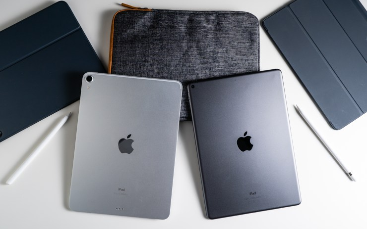iPad Air vs iPad Pro design comparison