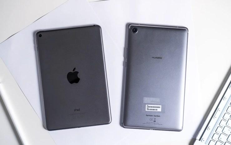 iPad Mini 2019 vs Huawei MediaPad M5 8 design