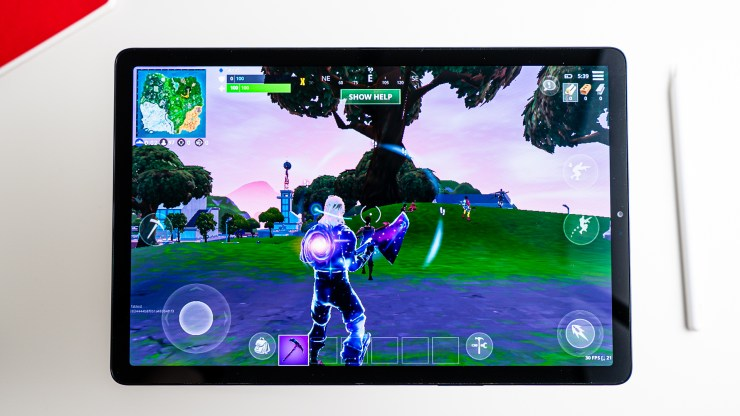 Samsung Galaxy Tab S5e with Fortnite