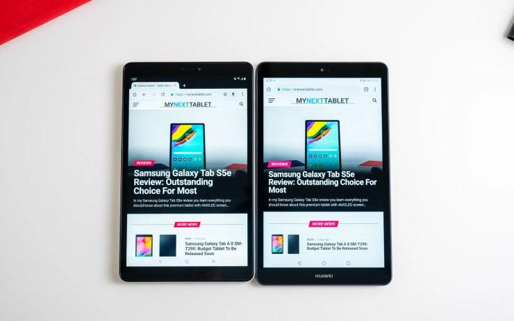 Samsung Galaxy Tab A 8 with S Pen vs Huawei MediaPad M5 Lite 8 Chrome
