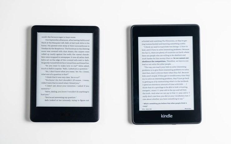 Amazon Kindle vs Paperwhite Display