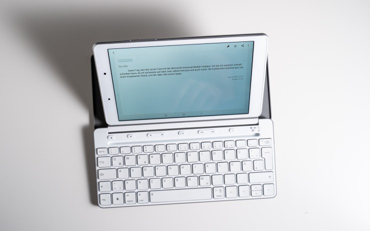 Galaxy Tab A 8.0 with Microsoft Universal Mobile Keyboard