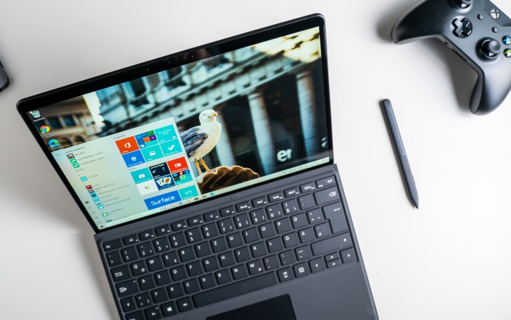 Microsoft Surface Pro X with keyboard and pen