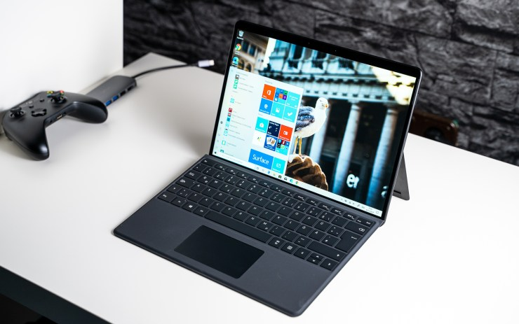 Microsoft Surface Pro X with keyboard
