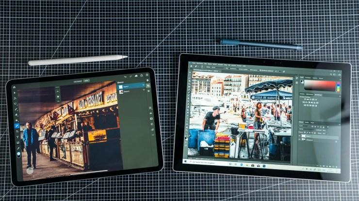 iPad Pro vs Surface Pro 7 Photoshop