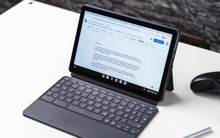 Lenovo Duet Chromebook with Google Docs