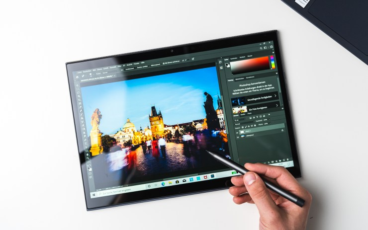 Lenovo Yoga Duet 7i with Photoshop