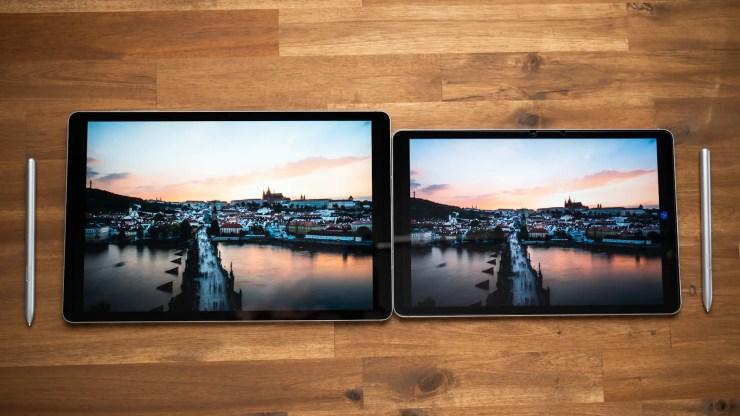 Samsung Galaxy Tab S7 FE Comparison Display