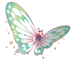 Gigantamax Butterfree Official Art