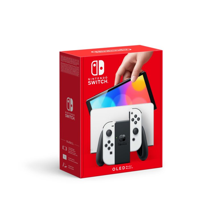 Switch oled white set Hands-on Preview: Nintendo Switch (OLED) model