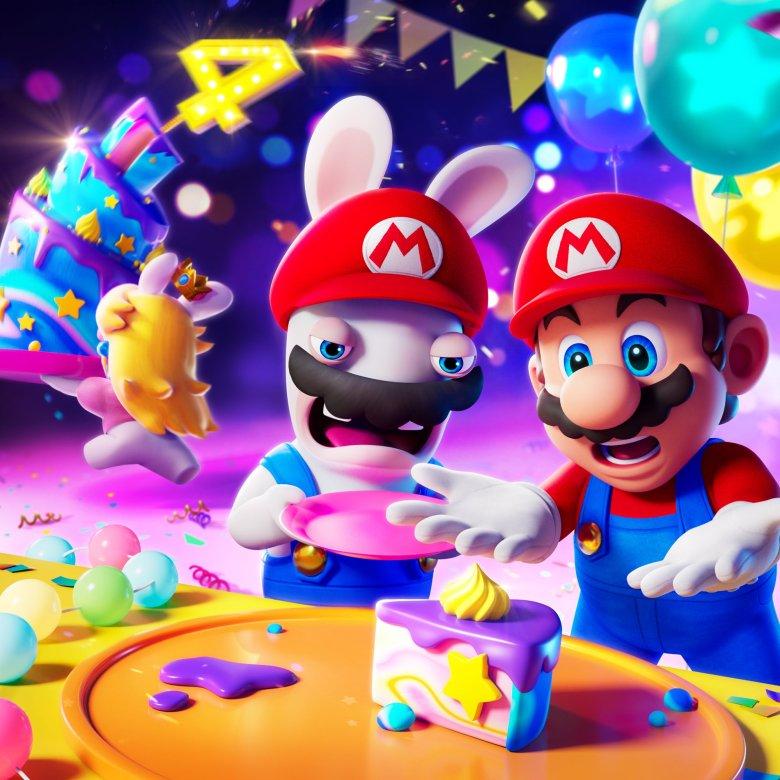 Mario + Rabbids Kingdom Battle Celebrates Its 4th Anniversary With New Artwork
