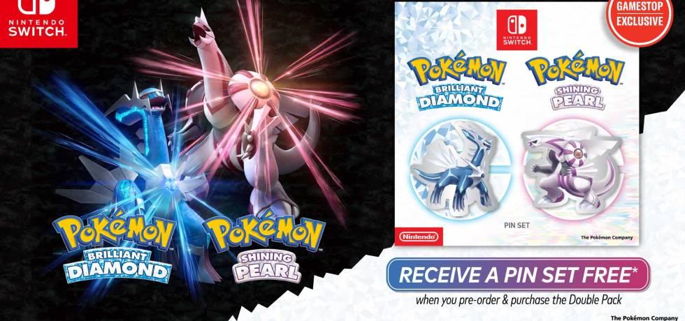pokemon brilliant diamond and shining pearl gamestop pins