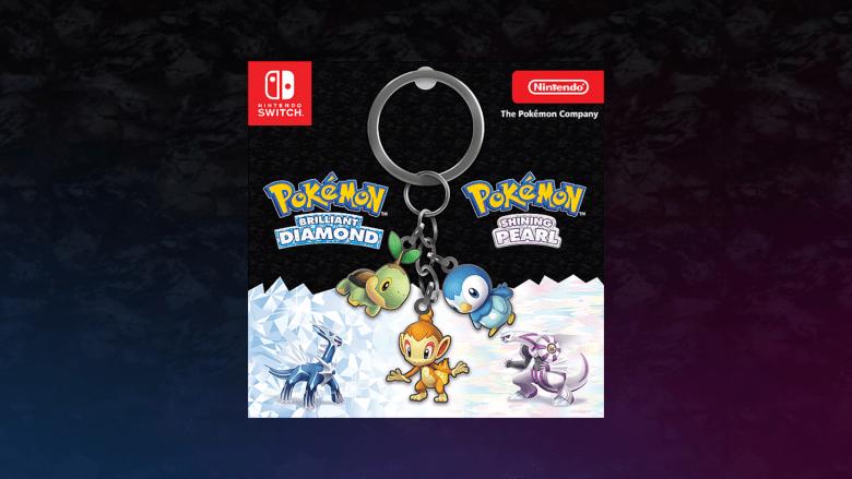 pokemon brilliant diamond shining pearl keychain