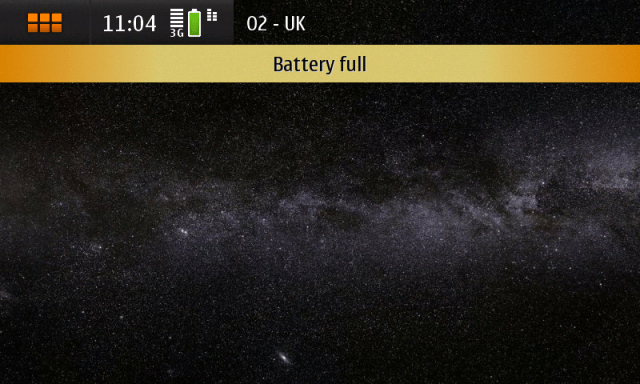 N900 fully charged