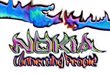 nokia logo burning