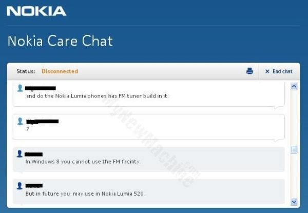 nokia care chat