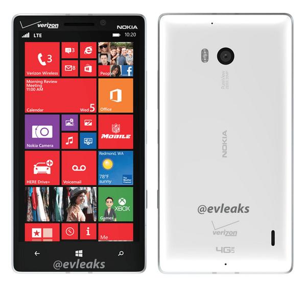 Lumia 929 evleaks white