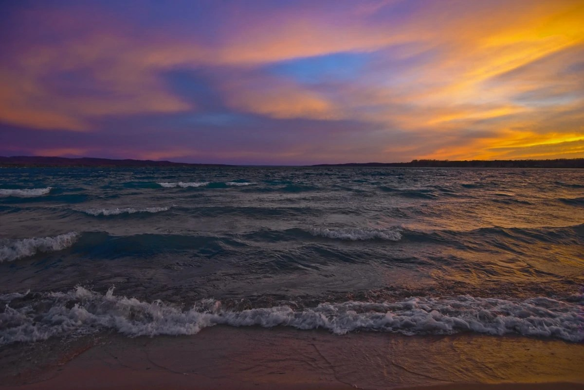 Colorful Sunset At Torch Lake