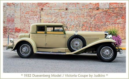 1932 Duesenberg Model J Victoria Coupe by Judkins ui