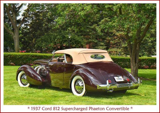 1937 Cord 812 Supercharged Phaeton Convertible g