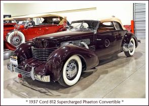 1937 Cord 812 Supercharged Phaeton Convertible