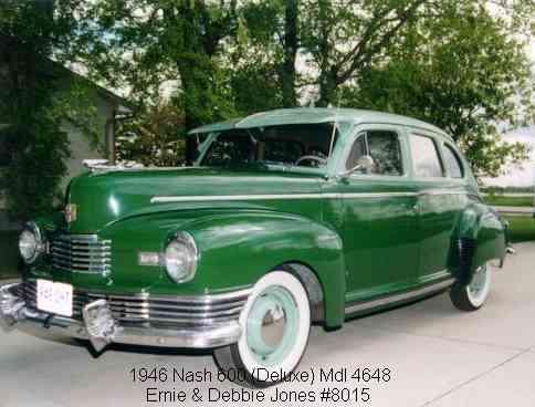 1946 Nash 600 Deluxe, 6 cyl., 4 dr. Sedan Slipstream