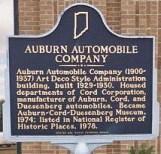 Auburn Indiana Auto Historic Marker