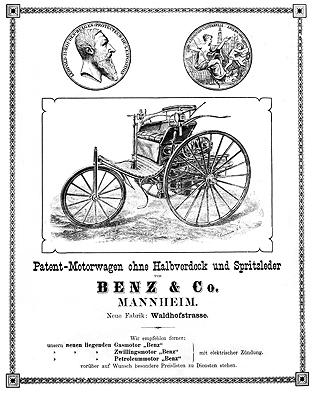 1886 Mercedes Benz Patent Motorwagen Daimler Benz AG