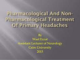 pharmacologic and nonpharmacologic treatments