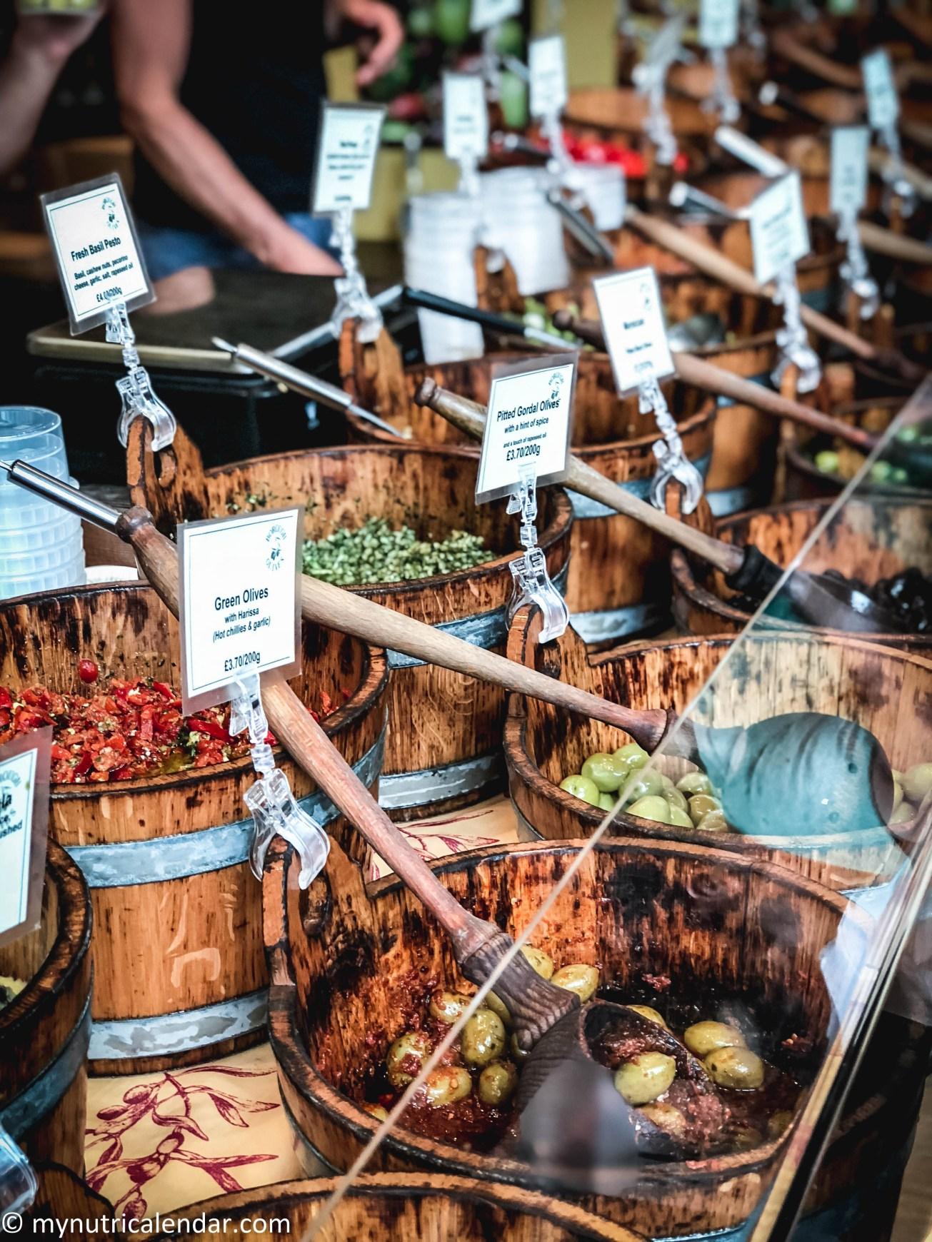 Borough Market London olives