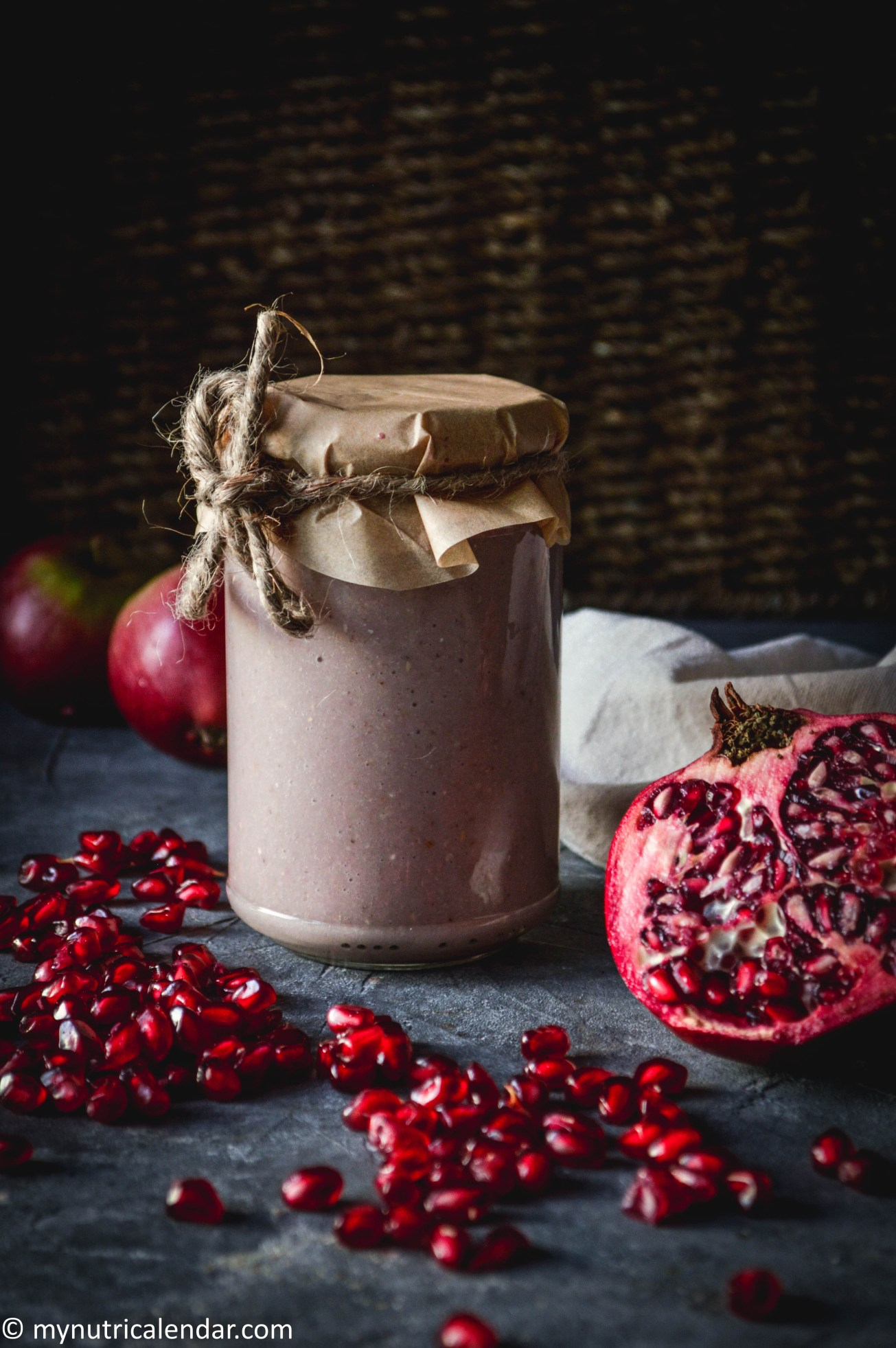 pomegranate smoothie food photography still life autumn produce eat seasonal 2.jpg