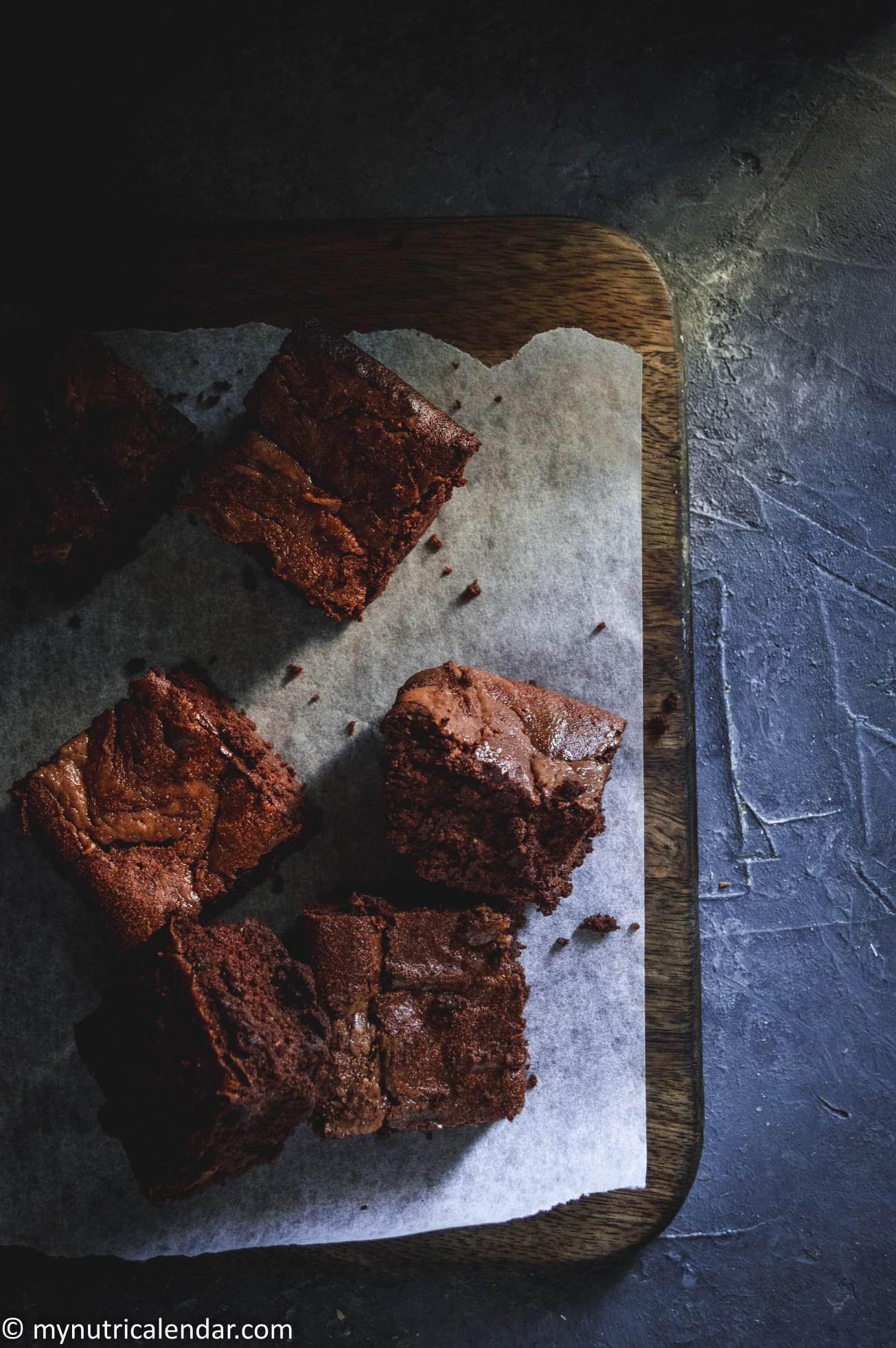healthy no sugar flourless cacao brownies 3