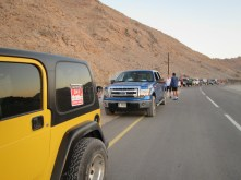 First check point on the run