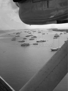 Through a seaplane window in Maldives