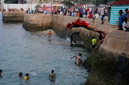 CRAZY kids jumping off the edge, into the water
