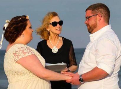 Jim-Melissa-Outer-Banks-Wedding-Minister-Barbara-Mulford