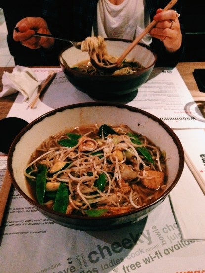 Dinner at Wagamama