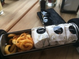 Sliders and curly fries