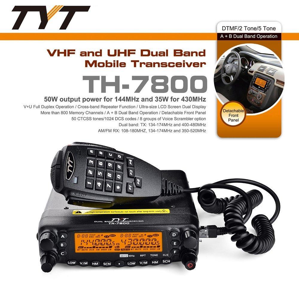 TYT TH-7800 Dual VFO 50w Mobile Radio on