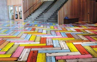 Painting Vinyl Floors Herringbone Pattern