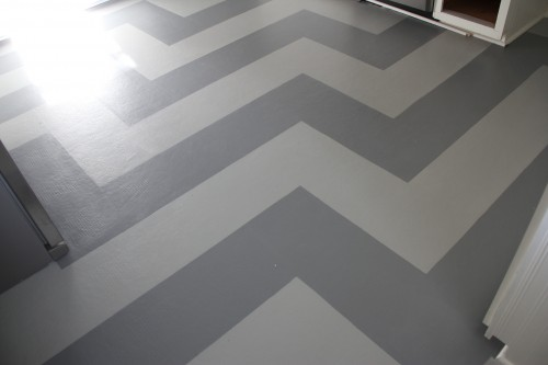 PAINTED KITCHEN FLOOR - COVENTRY GRAY AND TUCKER GRAY