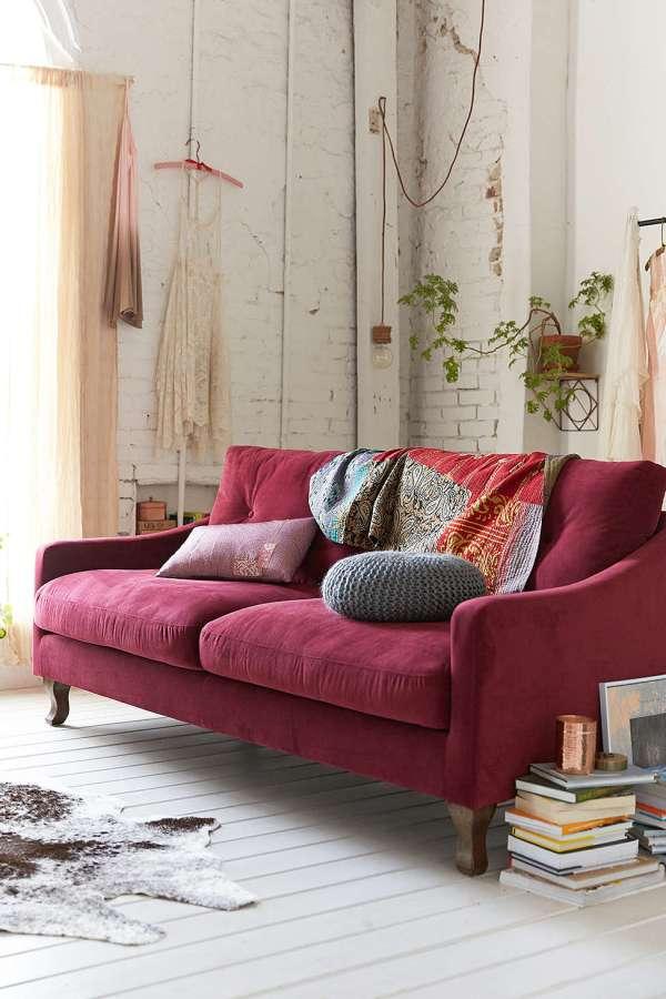 Living Room Decorating Ideas Burgundy Sofa design dilemma: decorating around the burgundy sofa –