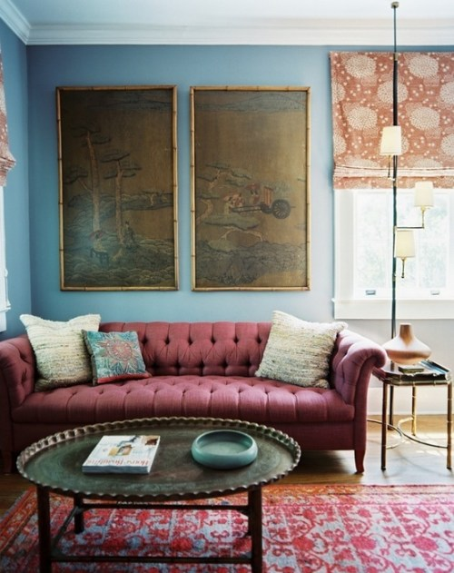 Living Room Decorating Ideas Burgundy Sofa design dilemma: decorating around the burgundy sofa –