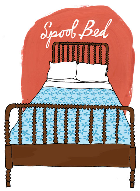 spoolbedillustration OBSESSED WITH SPINDLE AND SPOOL BEDS!