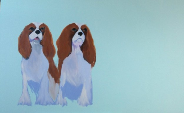 I THINK MY PAINTING OF TWO BEAUTIFUL KING CHARLES SPANIELS WOULD LOOK GOOD IN THIS ROOM!!!