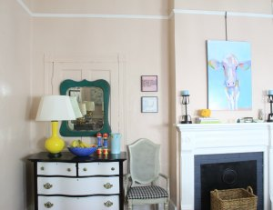 The Dining room IN FARROW AND BALL PINK GROUND